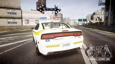 Dodge Charger Surete Du Quebec [ELS] para GTA 4 traseira esquerda vista