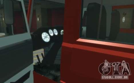 MAZ 533702 de EMERCOM da Rússia para GTA 4 vista de volta