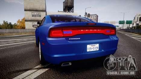 Dodge Charger SWAT Tactical Unit [ELS] bl para GTA 4 traseira esquerda vista