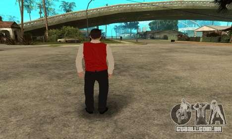 Casino Skin para GTA San Andreas por diante tela