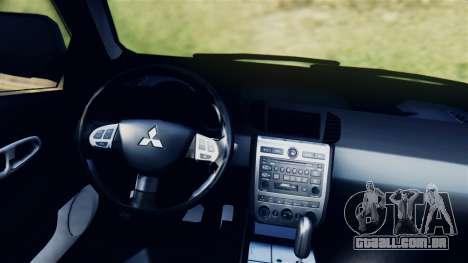 Mitsubishi Pajero 2014 Sport Dakar Offroad para GTA San Andreas traseira esquerda vista