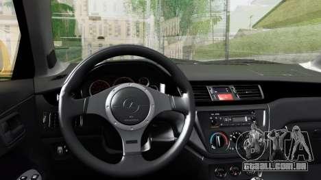 Mitsubishi Lancer Evolution IX para GTA San Andreas vista direita