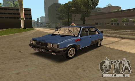Renault 11 TXE Taxi para as rodas de GTA San Andreas