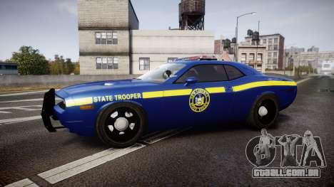 Dodge Challenger NYSP [ELS] para GTA 4 esquerda vista
