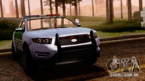GTA 5 Vapid Police Interceptor v2 SA Style para GTA San Andreas traseira esquerda vista