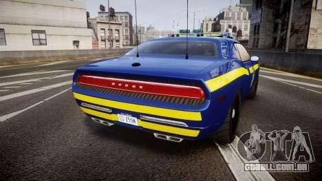 Dodge Challenger NYSP [ELS] para GTA 4 traseira esquerda vista