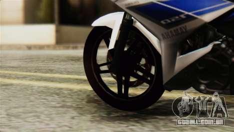Yamaha MX KING 150 para GTA San Andreas traseira esquerda vista