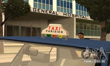 Renault 11 TXE Taxi para o motor de GTA San Andreas