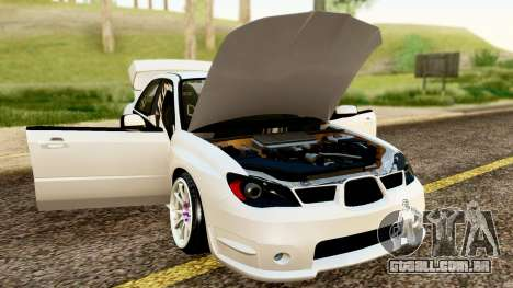 Subaru Impreza WRX STI Stance para GTA San Andreas vista traseira