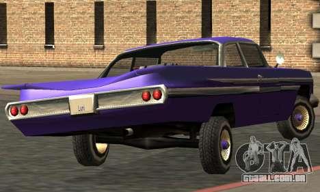Luni Voodoo Remastered para GTA San Andreas vista traseira