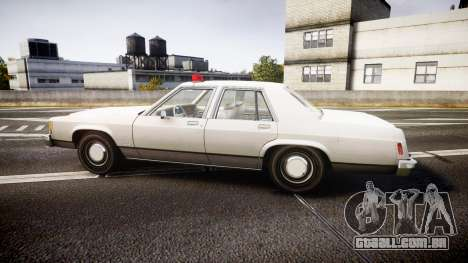 Ford LTD Crown Victoria 1987 Detective [ELS] para GTA 4 esquerda vista