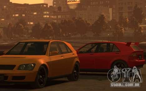 Karin Sultan Hatchback v2 para GTA 4 traseira esquerda vista