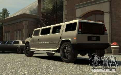 Mammoth Patriot Limousine para GTA 4 esquerda vista