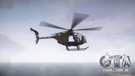 MH-6 Little Bird para GTA 4 esquerda vista