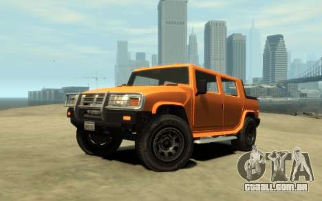 Mammoth Patriot Pickup v2 para GTA 4 vista de volta