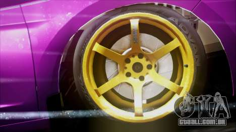 Honda CRZ Hybird Pink Cute para GTA San Andreas vista direita