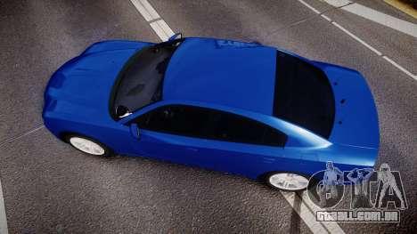 Dodge Charger SWAT Tactical Unit [ELS] bl para GTA 4 vista direita