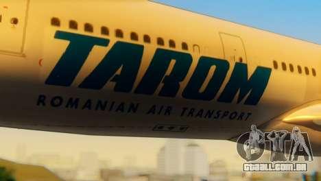 Airbus A330 TAROM Romania para GTA San Andreas vista traseira