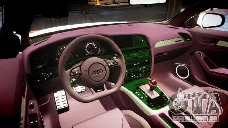 Audi S4 Avant Belgian Police [ELS] orange para GTA 4 vista interior
