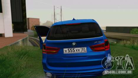 BMW X5 F15 2014 para GTA San Andreas interior
