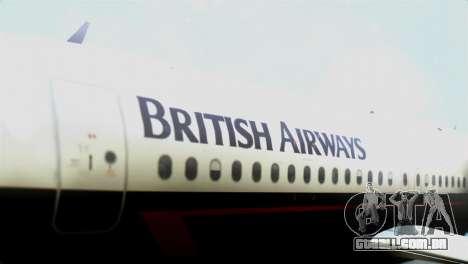 Airbus A320-200 British Airways para GTA San Andreas vista traseira