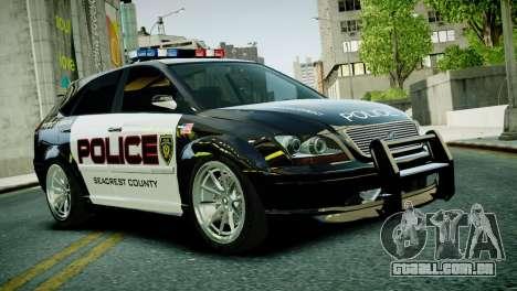 Subaru Impreza WRX STI Police para GTA 4