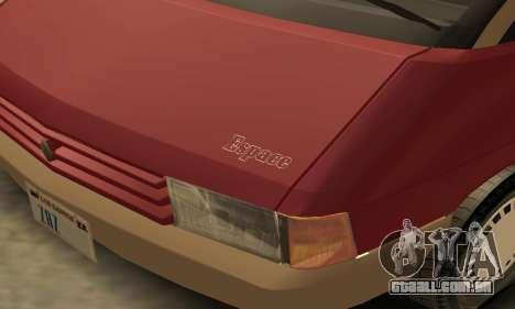 Renault Espace 2000 GTS para GTA San Andreas interior