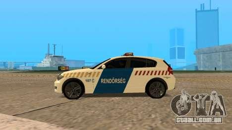BMW 120i E87 Polícia húngara para GTA San Andreas esquerda vista