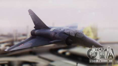 Dassault Mirage 4000 French Air Force para GTA San Andreas vista traseira