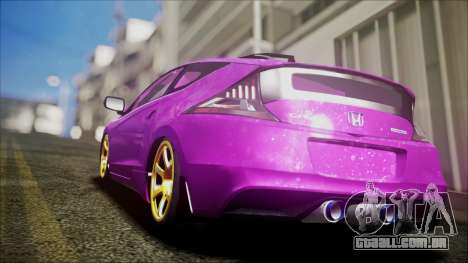 Honda CRZ Hybird Pink Cute para GTA San Andreas esquerda vista