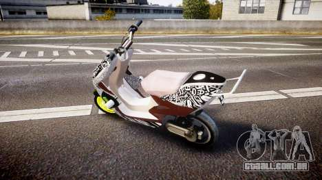 Yamaha Aerox Stunt para GTA 4 esquerda vista