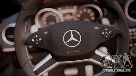 Mercedes-Benz ML 63 AMG 2014 para GTA San Andreas vista interior