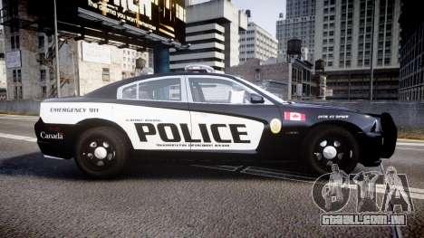 Dodge Charger Alderney Police para GTA 4 esquerda vista