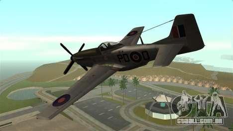 P-51D Mustang para GTA San Andreas esquerda vista