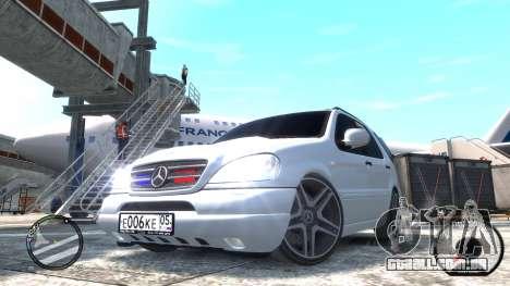 Mercedes-Benz ML 55 AMG para GTA 4 traseira esquerda vista
