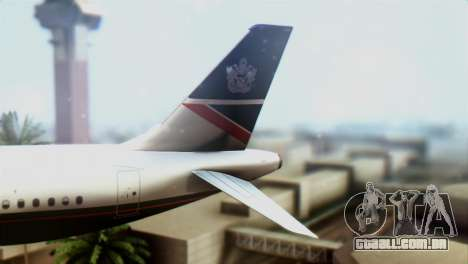 Airbus A320-200 British Airways para GTA San Andreas traseira esquerda vista