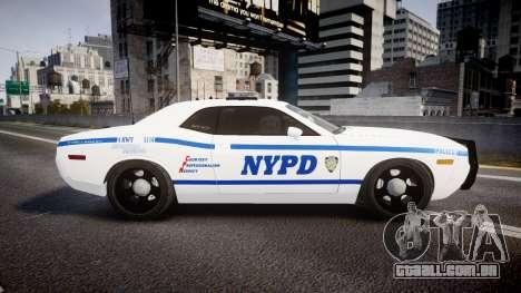 Dodge Challenger NYPD [ELS] para GTA 4 esquerda vista
