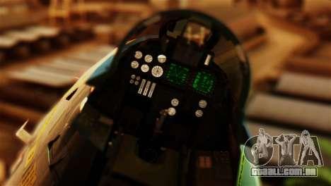 F-14D VF-213 Black Lions para GTA San Andreas vista traseira