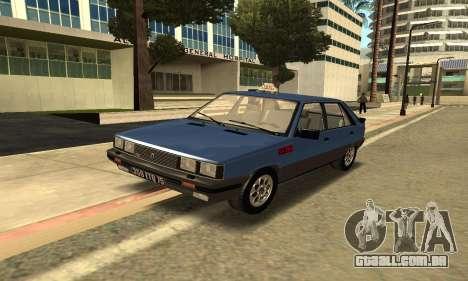 Renault 11 TXE Taxi para GTA San Andreas esquerda vista