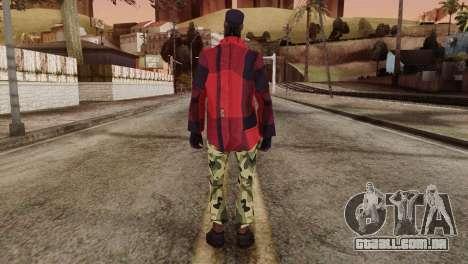 New Homeless Skin para GTA San Andreas segunda tela