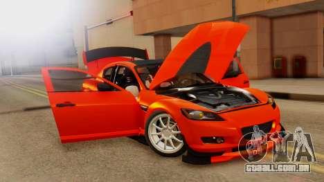 Mazda RX8 Drifter para GTA San Andreas vista traseira