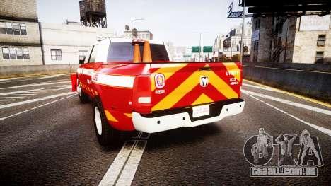 Dodge Ram 3500 2013 Utility [ELS] para GTA 4 traseira esquerda vista