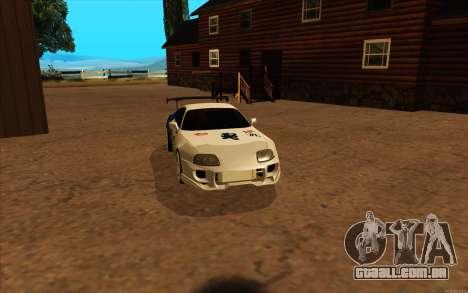 Toyota Supra Blue Robot para GTA San Andreas traseira esquerda vista
