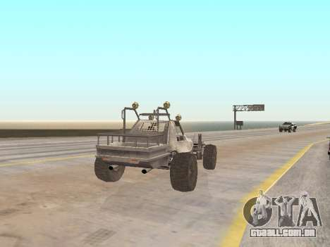 Buggy from Just Cause para GTA San Andreas traseira esquerda vista
