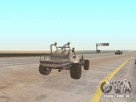 Buggy from Just Cause para GTA San Andreas traseira esquerda vista