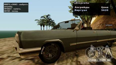 Rodas de GTA 5 v2 para GTA San Andreas quinto tela