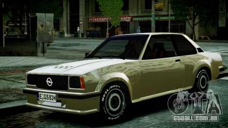 Opel Ascona B para GTA 4 vista direita