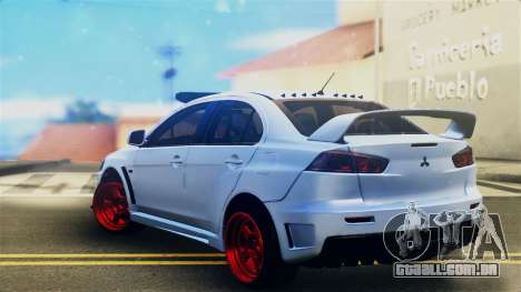 Mitsubishi Lancer Evolution X para GTA San Andreas esquerda vista