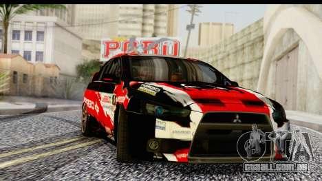 Mitsubishi Lancer Evo X Nunes para GTA San Andreas