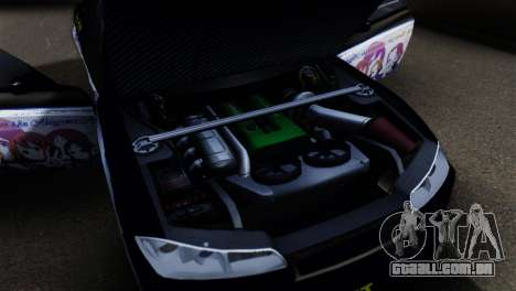 Nissan Silvia S15 K-on Itasha para GTA San Andreas vista traseira